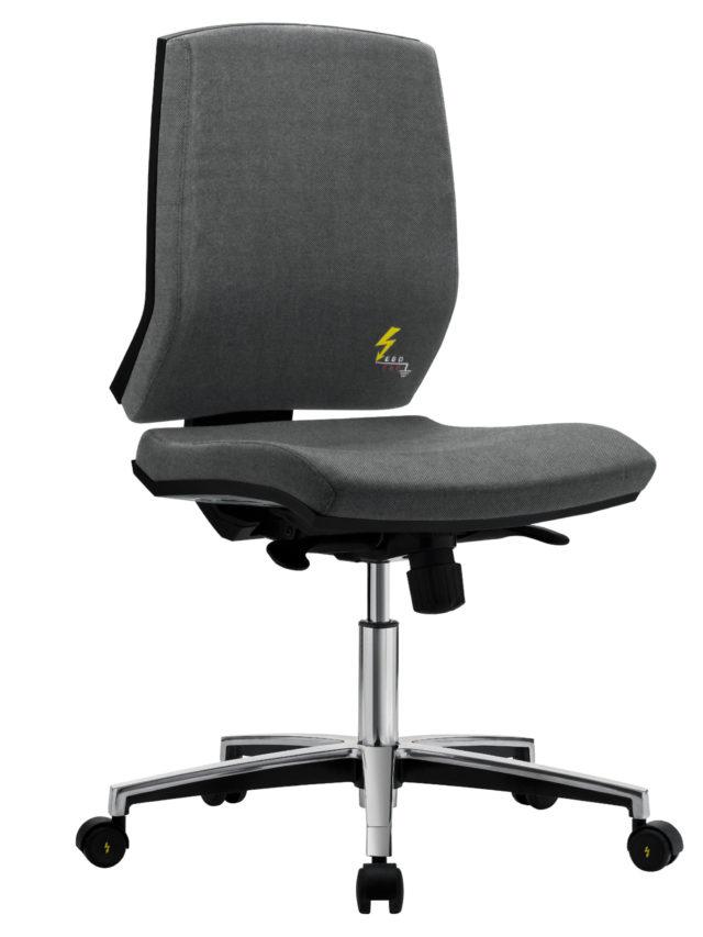 seduta antistatica da ufficio senza braccioli e con ruote