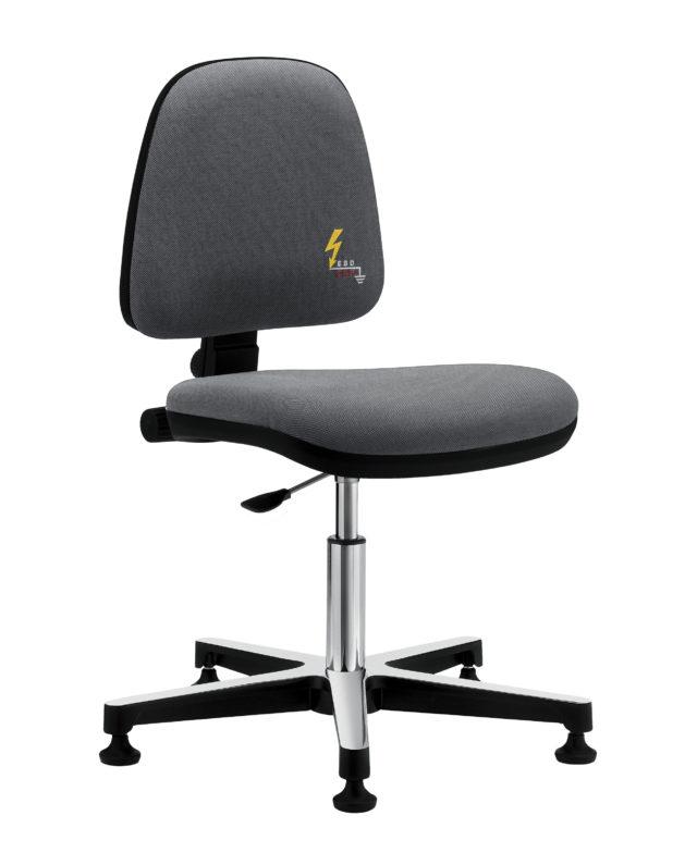 sedia ufficio antistatica da scrivania senza braccioli con base senza rotelle