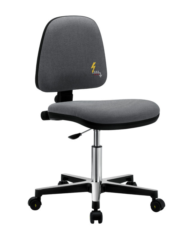 seda ufficio antistatica senza braccioli da scrivania con regolazione altezza e schienale bloccabile