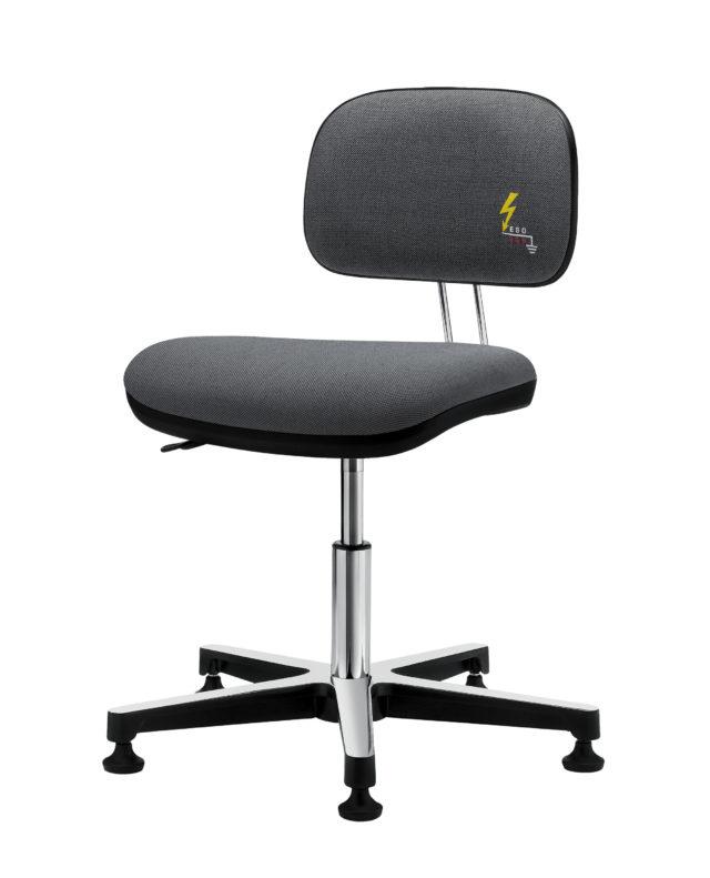 sedia ufficio antistatica girevole con base a 5 razze