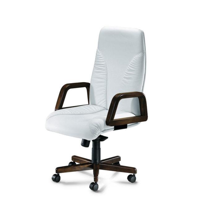 sedia con struttura nera e seduta bianca con route