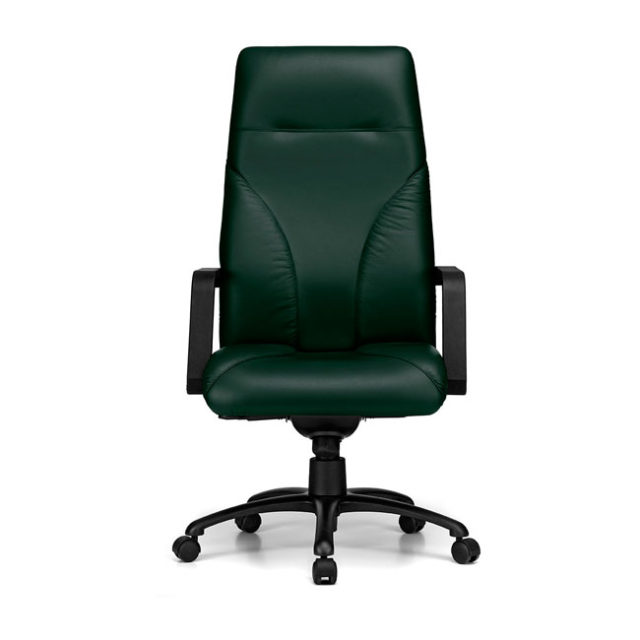 sedia presidenziale nera in pelle