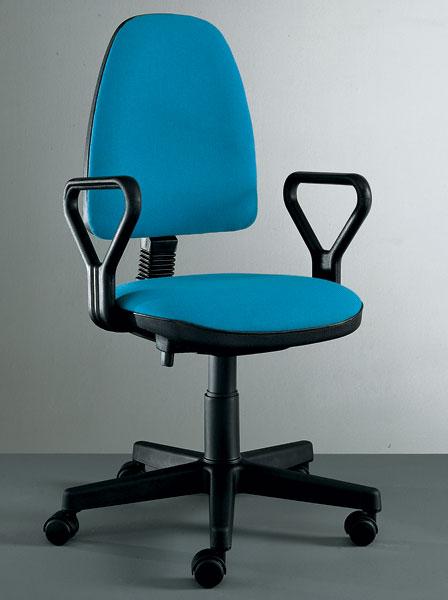 sedia ufficio turchese con ruote