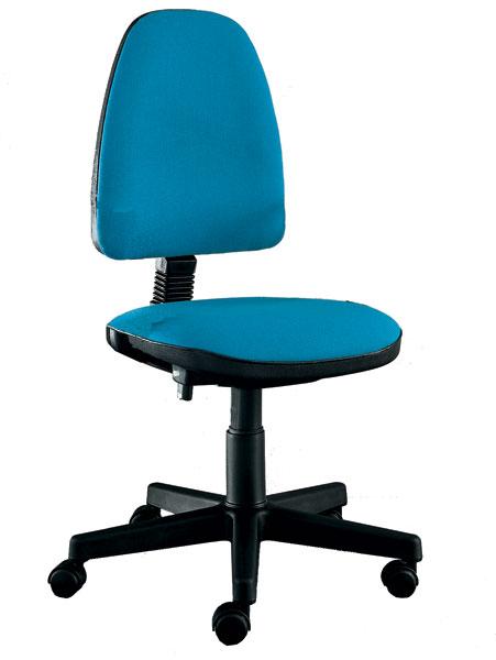 sedia da scrivania con schienale alto con base a 5 razze con rotelle e senza braccioli