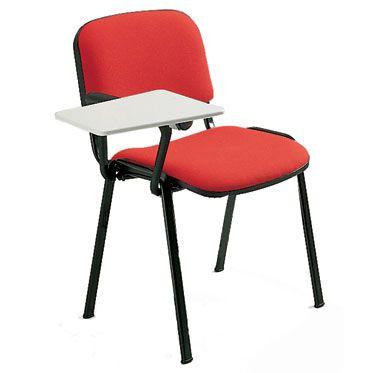 sedia da sala conferenze con bracciolo e tavolozza