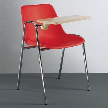 sedia per sale conferenza con bracciolo e banchetto