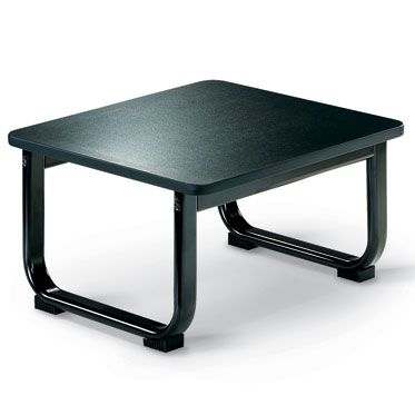 tavolino nero per sale d'attesa