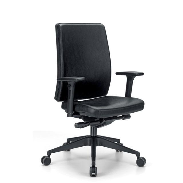 sedia ufficio direzionale in pelle
