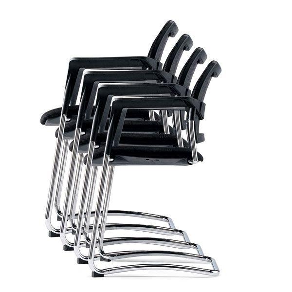 sedie per sale conferenze impilabili con base a slitta