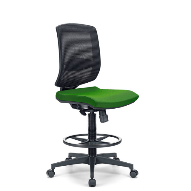 sedia ufficio con rotelle e senza braccioli