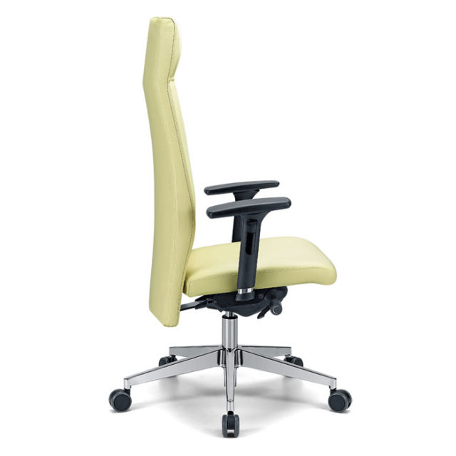 sedia presidenziale con schienale regolabile in altezza