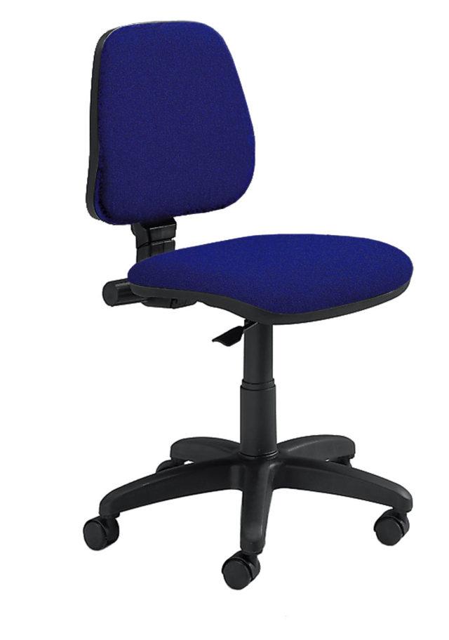 sedia da scrivania senza braccioli con schienale basso e imbottito