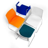 sedia per sala attesa o conferenza aris in 4 diversi colori