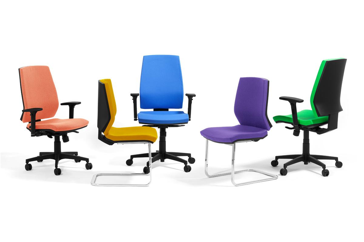sedie da scrivania con o senza rotelle e con o senza braccioli