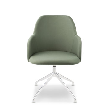 Élite 30 waiting chair with pyramidal base
