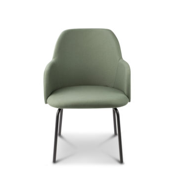 Élite 50 four-spoke base chair front view