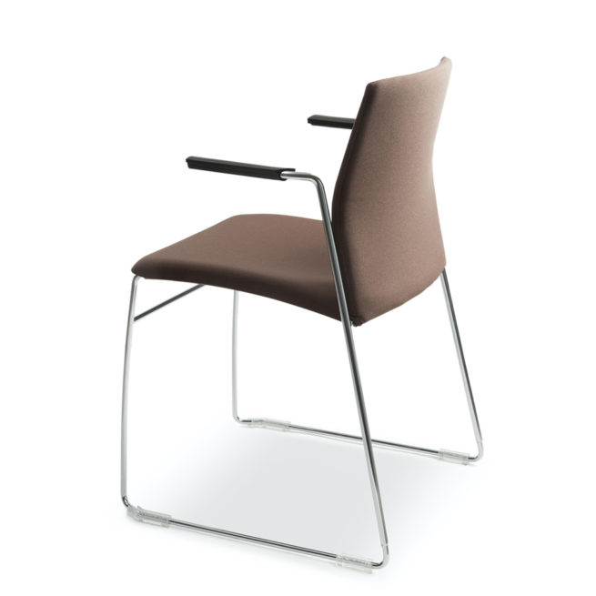Aris 660 chair with armrest side view