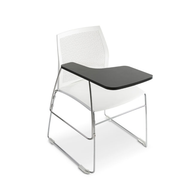 Aris 680 chair with writing tablet