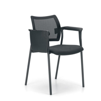 Greem 530 fixed chair with armrests and writing tablet