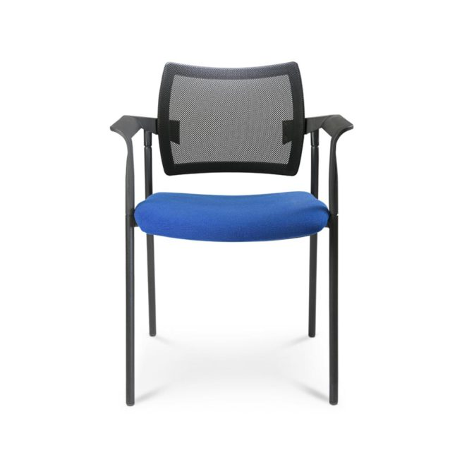 Greem 510 community fixed chair with armrests