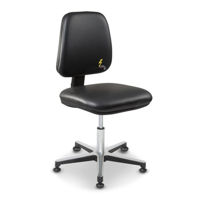 Gref 211 - Antistatic swivel chair, with glides. Artificial Leather Esd