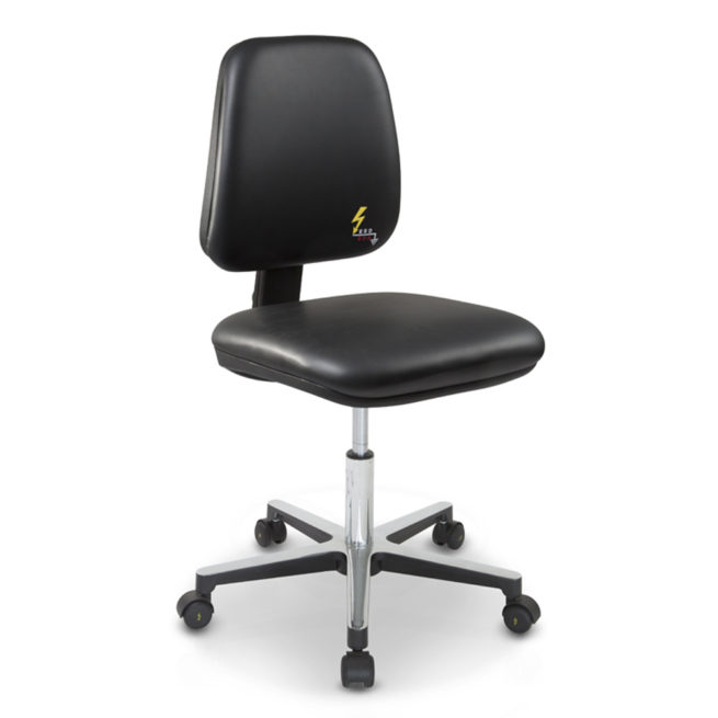 Gref 212 - Antistatic swivel chair, with castors. Artificial Leather Esd