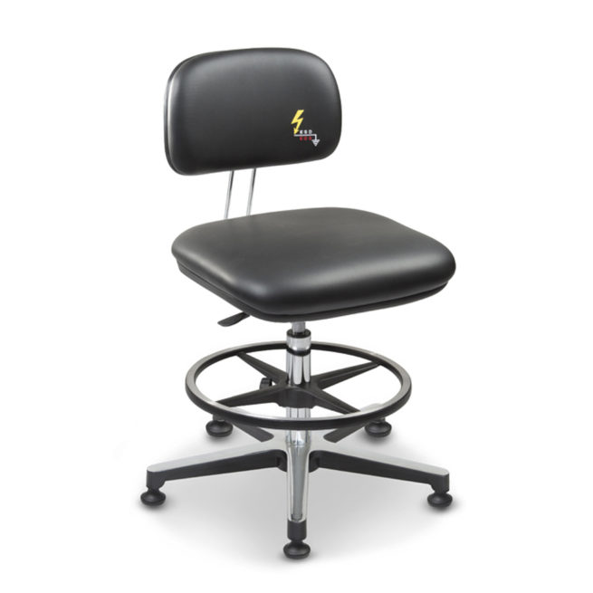 Gref 239 - Swivel antistatic stool in eco leather