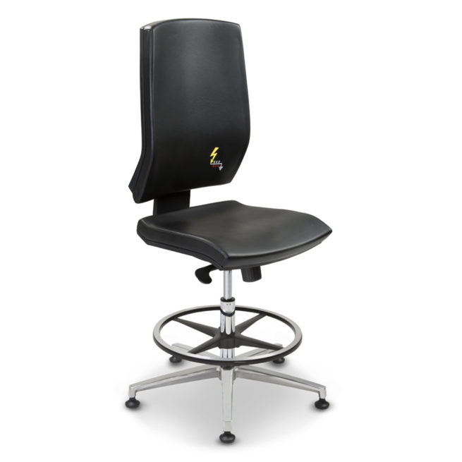 Gref 271- Antistatic laboratory stool in eco-leather