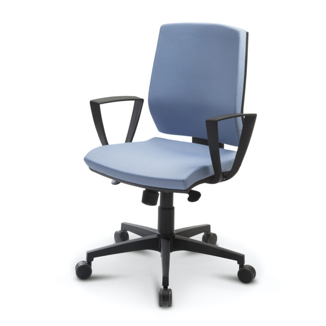 Juke 60 - Office chair with fixed armrests
