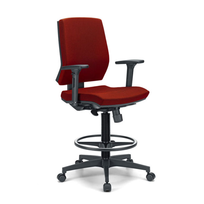 Juke 80 swivel office stool front view