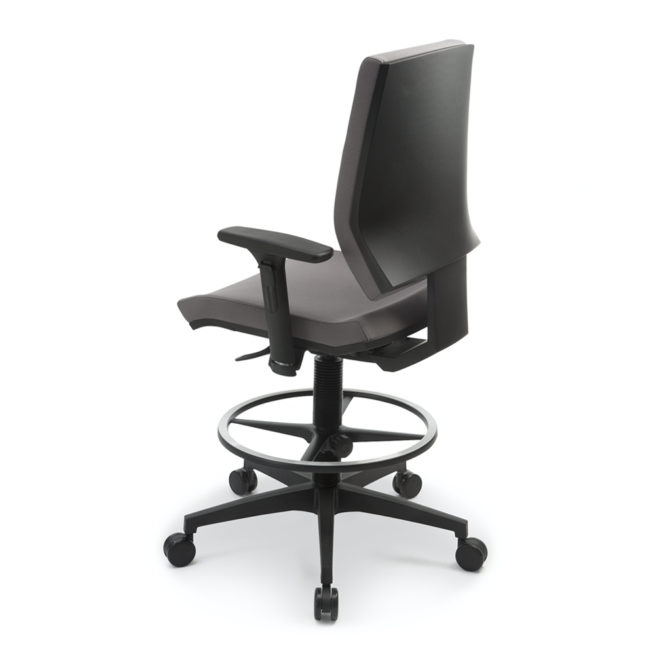 Juke 80 swivel office stool back view
