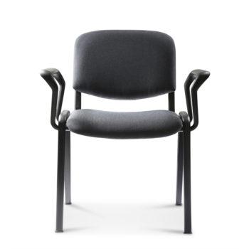 Koinè 410 - Sedia per collettività con braccioli