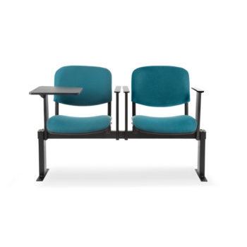 Koinè 430R - sedie su trave con bracciolo porta tavoletta