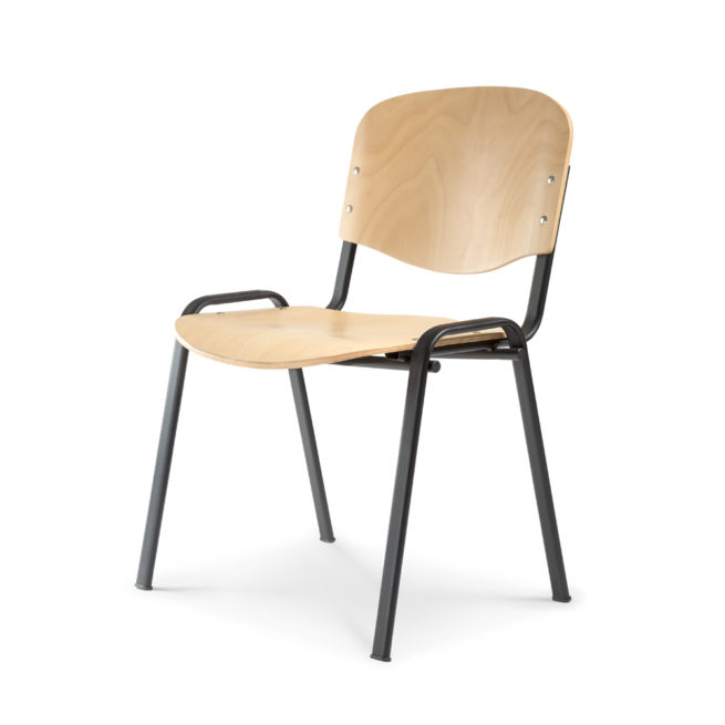 Koinè 415 - Chair in beechwood for community