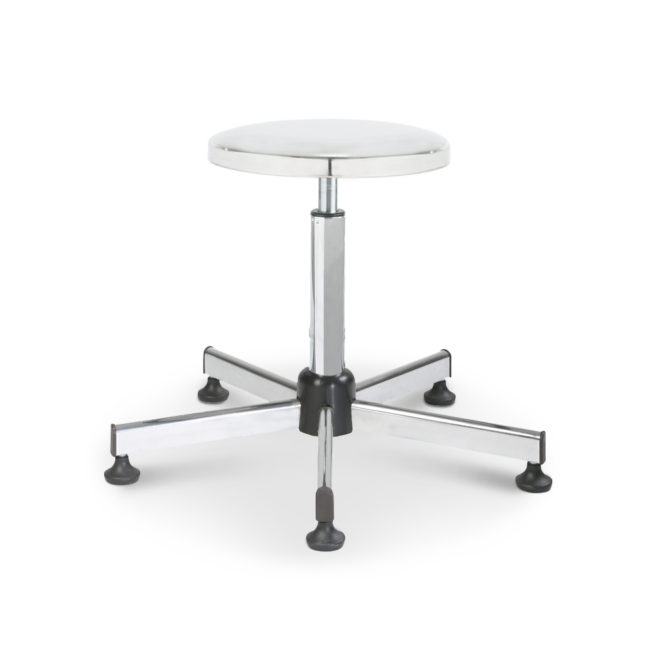 Mod. 1100T - Swivel stool with seat in steel