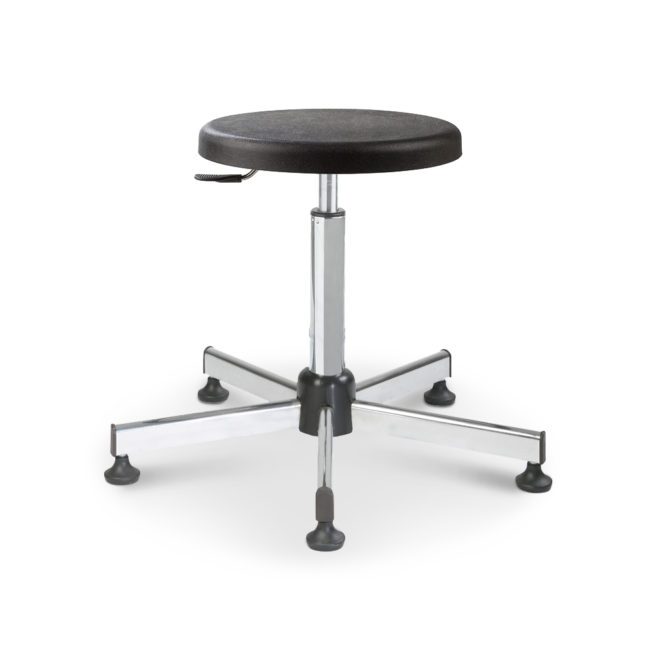 Mod. 1100T - Swivel stool with seat in polyurethane