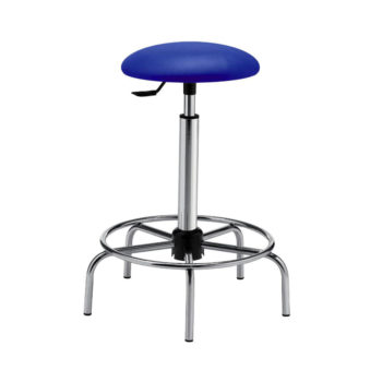 Mod. 1108 - Laboratory stool with eco-leather seat