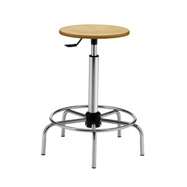 Mod. 1108 - Laboratory stool with wooden seat