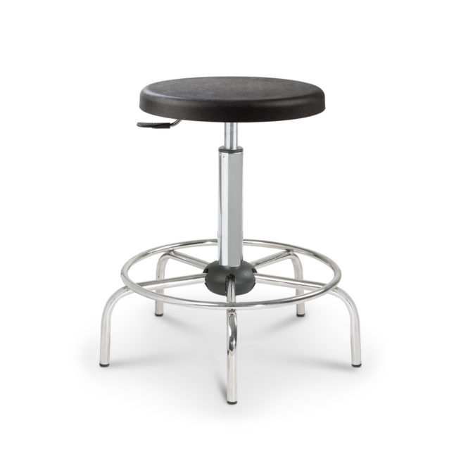 Mod. 1108 - Laboratory stool with seat in polyurethane