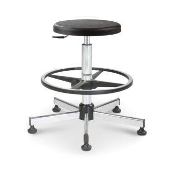 Mod. 1150 - Swivel stool with seat polyurethane