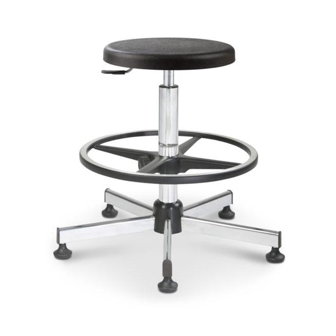 Mod. 1150 - Swivel stool with seat polyurethane