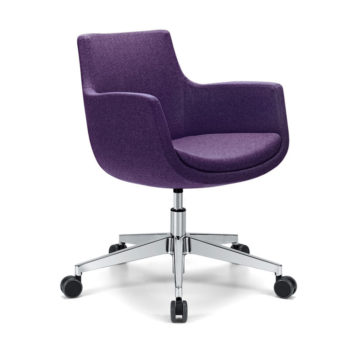 Domus 02 Waiting chair with castors