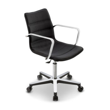 Swivel chair with castors and armrests Sally 900