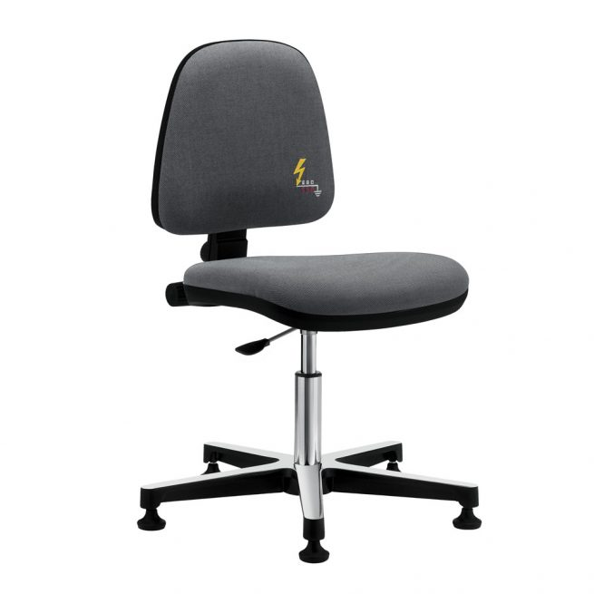 Gref 211 - Antistatic swivel chair, with glides.