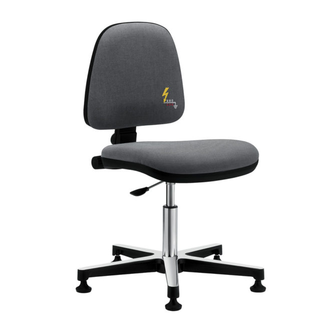 Gref 211 - Antistatic swivel chair, with glides. Fabric Esd