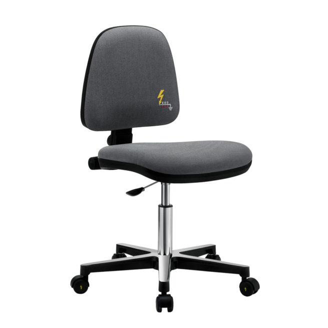 Gref 212 - Antistatic swivel chair, with castors. Fabric Esd