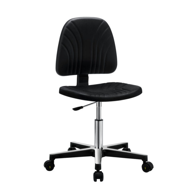 Gref 245 - Antistatic swivel chair in integral polyurethane, with castors.