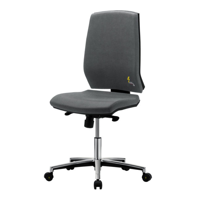 Gref 261 - Antistatic office chair  with ergonomic high backrest.