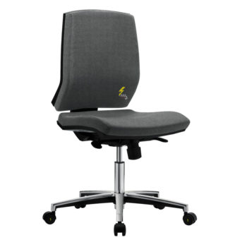 Gref 263 - Antistatic swivel chair for office with castors, with low backrest.