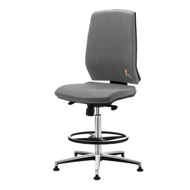 Gref 271 - Antistatic office and laboratory stool with high backrest|